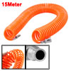 15M 49 Ft 6mm x 5mm Flexible PU Recoil Hose Tube for Compressor A...