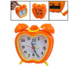 Orange Apple Shaped Dual Bell Arabic Number Mini Desk Alarm Clock