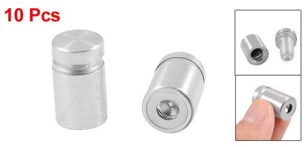Advertisement Nails Box Screws Glass Standoff Pins 12mm x 20mm 10pcs