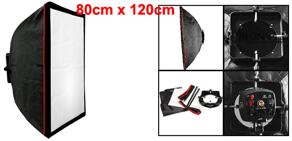 80cm x 120cm Rectangular Studio Photography Flash Softbox w Speed Ring