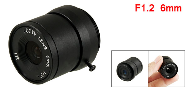 CCTV Box Camera Fixed 6mm Focus Length IR Board Lens F1.2