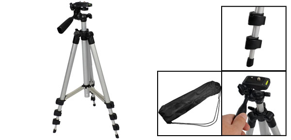 Telescopic 4 Sections Aluminum Legs Digital Camera Tripod Support 97cm Long