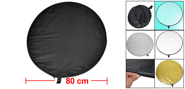80cm Diameter Photo Studio Collapsible Round 5 in 1 Reflector