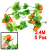 5 Pcs Orange Red Foam Tomato Fruit Green Leaf Wall Adorn Hanging ...