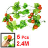 5 Pcs Orange Red Persimmon Green Leaf Wall Decorative Hanging Vin...