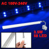 3.5W 58 LEDs White Blue Light Aquarium Clip Lamp AC 100V-240V 50-...