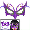 Lady Rhinestone Green Powder Detail Self Tie Fancy Party Eye Mask Purple