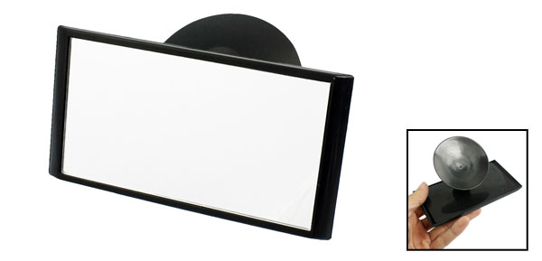 Car Vehicle Safety Interior View Blind Spot Suction Mirror Black