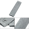 Lady Light Gray Knitted Fingerless Long Gloves Arm Warmers