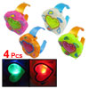 4 Pcs Battery Operated Heart Flower Shape Plastic LED Light Up Toy Bracelet