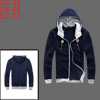 Mens Ribbed Cuff Long Sleeve 2012 New Fashion Dark Purple Hoodie Coat L