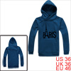 Mens Steel Blue Fashion Pullover Letters Front Stretch Hem Casual...