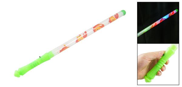 Xmas Night Green Grip Red Yellow Fish Pattern Flashing Colorful Light Stick