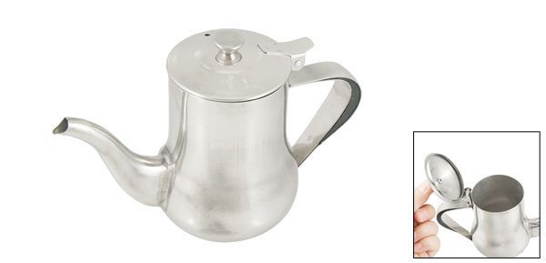 Silver Tone Stainless Steel 110Z Capacity Tea Pot Water Kettle