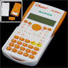 White Orange Plastic Shell Two Line Display Students Calculator w...