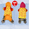 Lip Pattern Plush Lining Hooded Dog Jumpsuit Coat Poodle Apparel ...