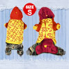 Winter Lip Print Hoodie Dog Jumpsuit Chihuahua Clothes Yellow Red...