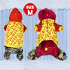 Lip Pattern Plush Lining Hooded Dog Jumpsuit Coat Yorkie Maltese ...