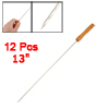 12 Pcs Wooden Handle Metal Shaft BBQ Needle Barbeque Tool