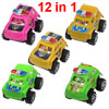 12 in 1 Assorted Color Police Car Truck Toy Set for Children