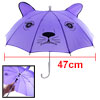 Child 10 Metal Ribs Cat Pattern Mini Purple Umbrella Toy
