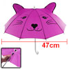 Children Leopard Pattern Fuchsia Playing Mini Umbrella Toy