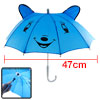 Child 10 Metal Ribs Cartoon Dog Pattern Mini Blue Umbrella Toy