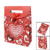 Letter Hearts Pattern Red Hook Loop Fastener Paper Foldable Gift ...