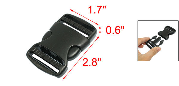 3.5cm Replacement Belt Connecting Black Plastic Quick Release Buckle