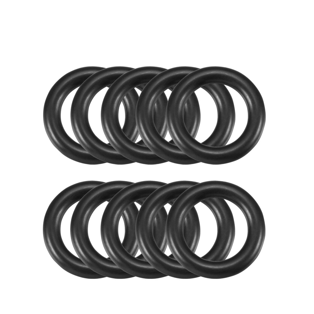 10-Pcs-Oil-Seal-O-Rings-Black-Nitrile-Rubber-22mm-OD-4mm-Thickness