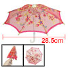 Children Fuchsia Embroider Flower Pattern Folding Mini Lace Umbre...