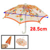 Orange Embroider Flower Pattern Folding Mini Lace Umbrella Toy fo...