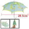 Blue Embroider Yellow Flower Pattern Mini Lace Umbrella for Children
