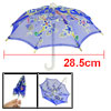 Children Indigo Blue Embroider Flower Pattern Mini Lace Umbrella