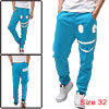 Men Blue New Casual Pockets Smile Design...