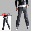 Mens Gray NEW Pockets Front Button Closure Trousers W30