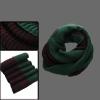 Mens Dark Green Brown Stylish Chunky Ribbed Knitting Circle Scarf