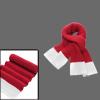 Mens New Fashion Red White Long Shawl Wrap Chunky Knit Scarf