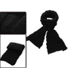Mens Black Plaids Pattern Knit Details Fashion Long Shawl Wrap Sc...