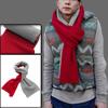Mens Red Light Gray Crochet Knitting Autumn Stylish Long Shawl Wr...