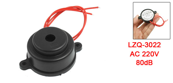 Black Housing AC 220V 2 Wire Industrial Electronic Alarm Sound Buzzer 80dB