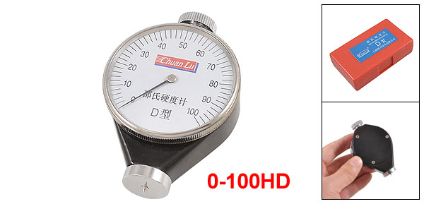 Shore Tire Durometer Type D 0-100mm Rubber Hardness Testers Black Silver Tone