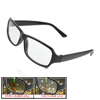 Women Black Rubberized Full Frame Multi Coated Lens Plano Glasses