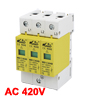 AC 380V 40KA 20KA 3P DIN Rail Mount Surge Protection Device Arres...