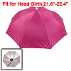 Fuchsia Polyester 8 Ribs Fishing Golfing Sun Rain Umbrella Hat Ca...