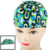 Adults Elastic Fiber Stretch Oval Shaped Pattern Swimming Cap Swi...
