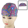 Adults Multicolored Novelty Pattern Dome Shaped Stretchy Polyester Swimming Cap
