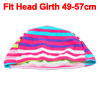 Dome Shaped Assorted Color Stripes Pattern Polyester Stretchy Swi...