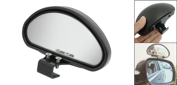 Black Plastic Casing Car Side Blindspot Blind Spot Mirror Wide Angle View