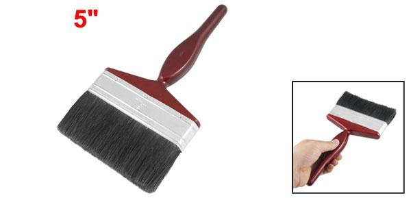 Nylon Bristle Wooden Handle Paint Brush Painting Tool Dark Red 5
